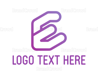 Letter E - Purple E logo design