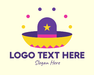 Festivity - Colorful Mexican Hat  logo design