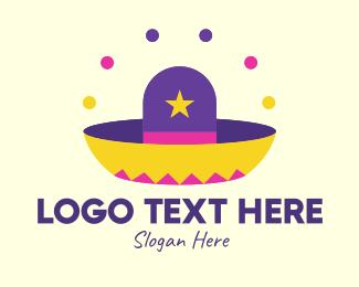 Celebrate - Colorful Mexican Hat  logo design
