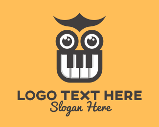 School - Piano Owl Music School logo design