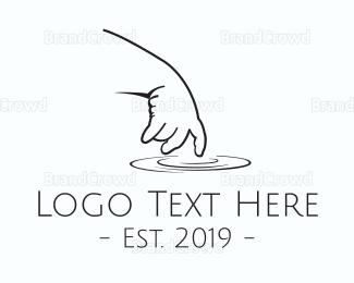 Learning Center - Baby Hand logo design