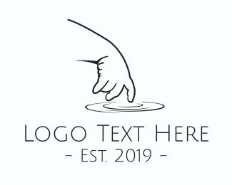 Touch - Baby Hand logo design