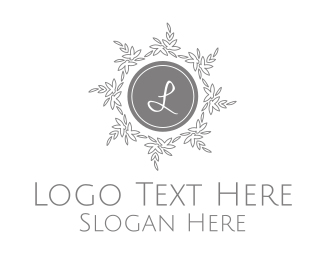 Cemetery - Silver Wreath Lettermark logo design