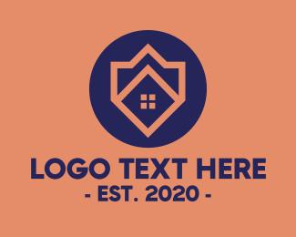 Home Furnishing - Realtor House Emblem logo design