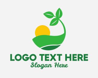Sunrise - Sunrise Leaves logo design