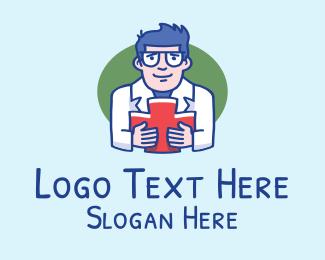Physician - Doctor Physician Man logo design