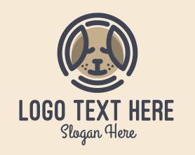 Puppy Dog Circle Logo