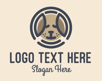Pet Food - Puppy Dog Circle logo design
