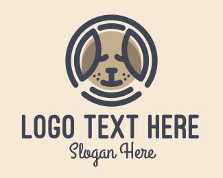 Puppy - Puppy Dog Circle logo design