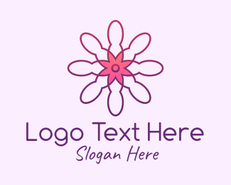 Wellness - Minimalist Wellness Flower logo design