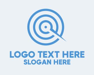 Goal - Blue Target Compass logo design