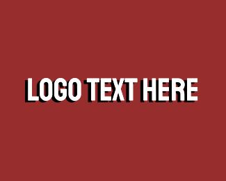 Serious - White Bold Wordmark logo design