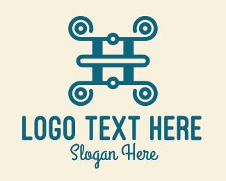 Letter - Fancy Letter H logo design