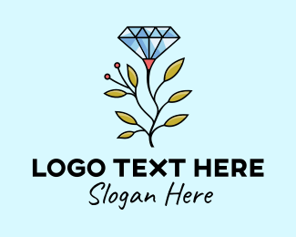 Rhinestone - Diamond Jewelry Branch logo design