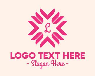 Floral Design - Pink Tulip Lettermark logo design