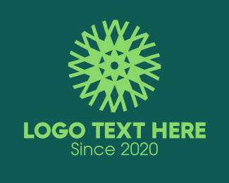 Agriculturist - Green Eco Pattern logo design