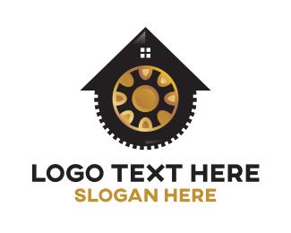 Tire - Home Maintenance Gear Service logo design