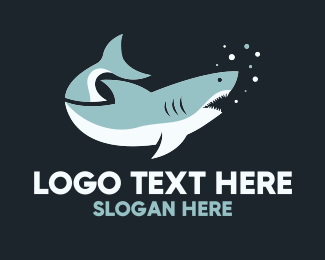 Oceanic - Great White Shark logo design