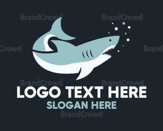 Aggressive - Great White Shark logo design
