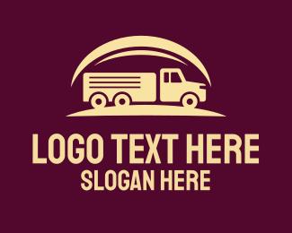 Truck Company - Vintage Cargo Truck logo design