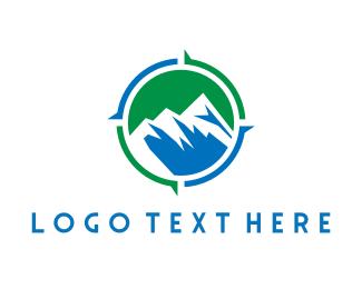 Swiss - Mountain Compass logo design