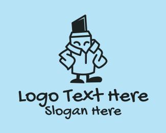 School - Pen Marker Artist  logo design