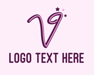 Acting - Star Letter V logo design