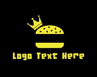 Meal - King Burger logo design