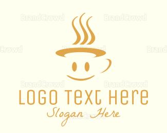 Smiling - Happy Mug logo design
