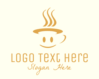 Smiling - Happy Mug logo design