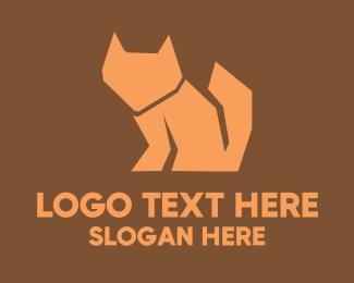 Orange - Orange Fox Silhouette logo design