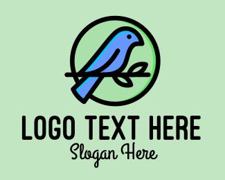 Pet Store - Green Pet Bird  logo design