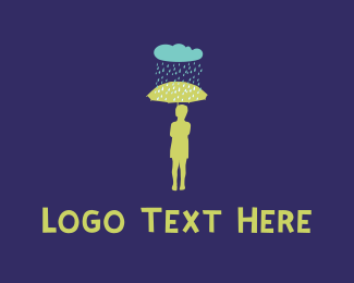 Raindrop - Rain & Umbrella logo design