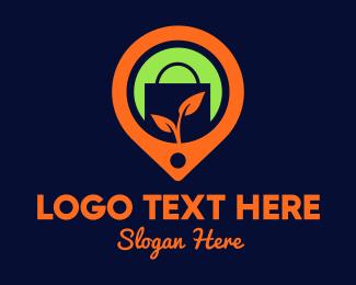 Orange Leaf - Grocery Point logo design