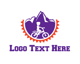 Cycling - Mountain Bicycle logo design