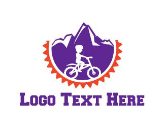 Cycling - Mountain Bicycle logo design