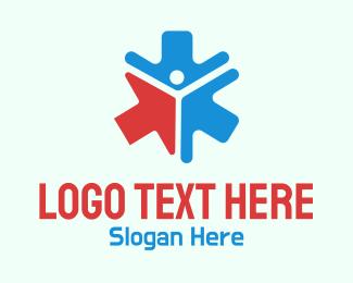 Online Consultation - Health Arrow Pattern  logo design