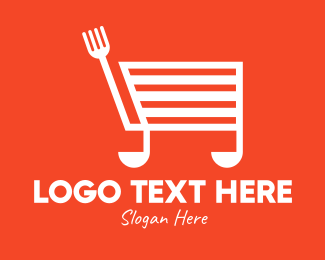 Shopping Cart - Cooking Shopping Cart logo design