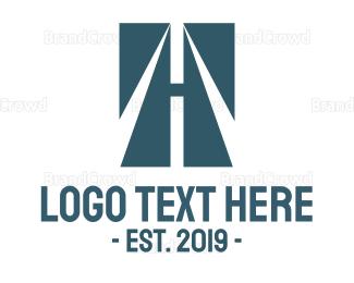 Bus Company - Blue Road logo design