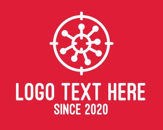 Microbe - Virus Target logo design