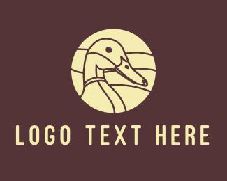 Duck - Brown Duck logo design