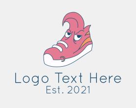 Punk - Punk Sneakers Mascot logo design