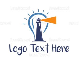 Bulb - Bright Lighthouse logo design