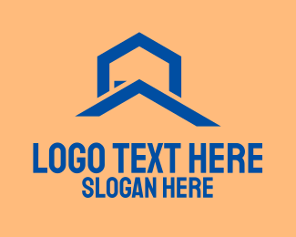 Roofing Service - Building Construction Company  logo design