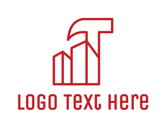 Hammer - Hammer Building Outline logo design