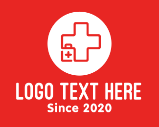 First Aid Kit - Medical Emergency Kit logo design