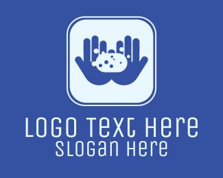 Soap - Hand Wash Soap App logo design