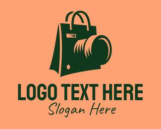 Camera Shop - Camera Shopping Bag  logo design