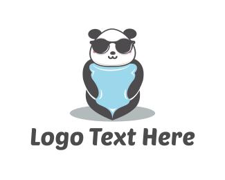 Hipster - Cool Panda  logo design