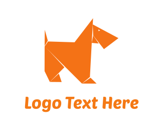 Folding - Origami Dog logo design